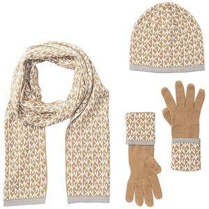 Michael Kors Scarf, Hat, Glove set